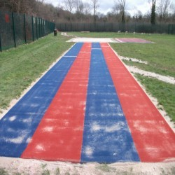Athletics Track Installation in Abertillery/Abertyleri 2