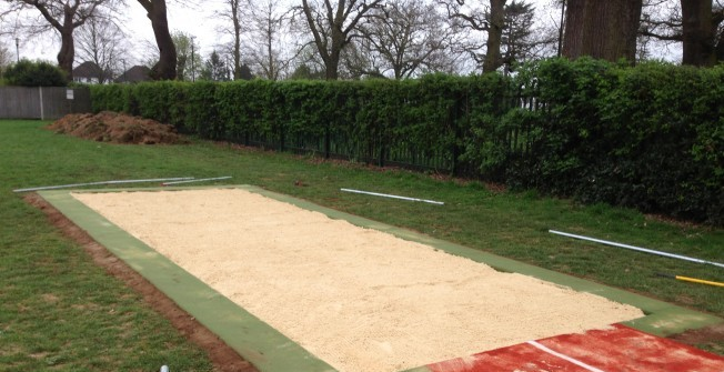 Long Jump Pit in Derbyshire